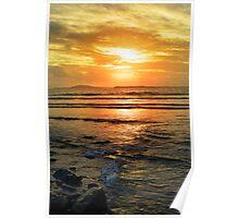 beal beach sunset near ballybunion Poster