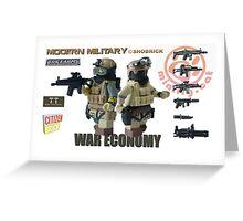 Modern Military War economy Greeting Card