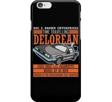Doc E. Brown Time Travelling Delorean iPhone Case/Skin