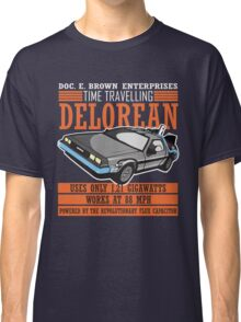 Doc E. Brown Time Travelling Delorean Classic T-Shirt