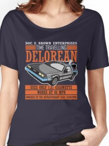 Doc E. Brown Time Travelling Delorean Women's Relaxed Fit T-Shirt