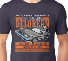 Doc E. Brown Time Travelling Delorean Unisex T-Shirt