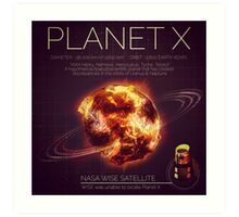 PLANET X NIBIRU INFOGRAPHIC Art Print