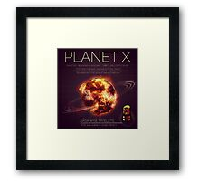 PLANET X NIBIRU INFOGRAPHIC Framed Print