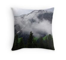 Clouds in the Valleys Throw Pillow