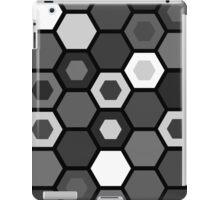 Black and White Hexagons iPad Case/Skin