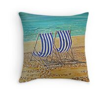 Weymouth - booked my seat for 2012! Throw Pillow