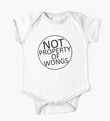 Not Property of Wongs One Piece - Short Sleeve