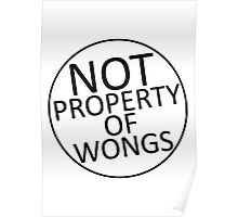 Not Property of Wongs Poster