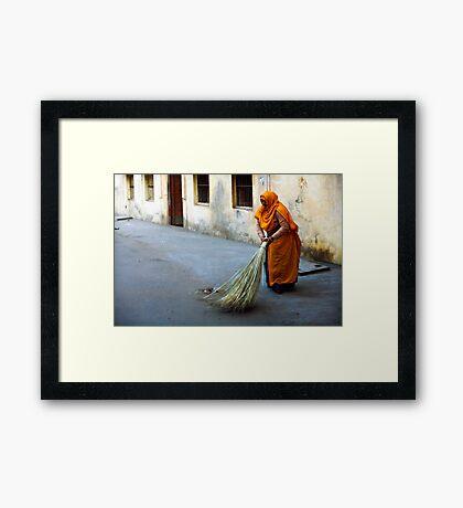 Street sweeper Framed Print