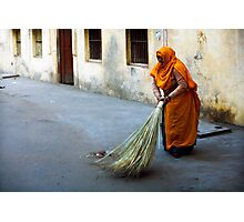 Street sweeper Photographic Print