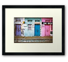 Coloured Doorways Framed Print