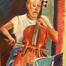 Brian Playing the 'Cello by Gregory Pastoll