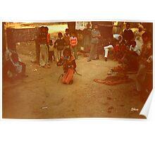 Snake Charmer in Agra Poster