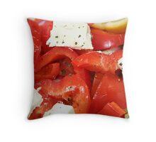 Fresh vegetarian salad Throw Pillow
