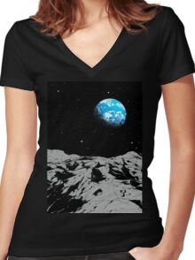 From the Moon Women's Fitted V-Neck T-Shirt