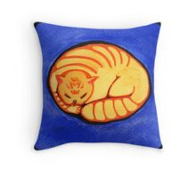 Round Golden Throw Pillow