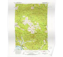 USGS Topo Map Washington Skamokawa 243743 1953 62500 Poster