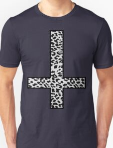 Snow Leopard Cross Inverted Unisex T-Shirt