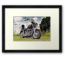 1987 Custom Harley Softail Framed Print