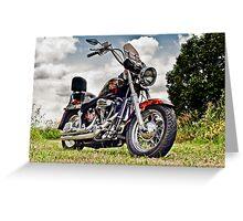 1987 Custom Harley Softail Greeting Card
