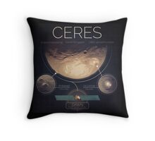 Dwarf Planet Ceres Infographic NASA Throw Pillow