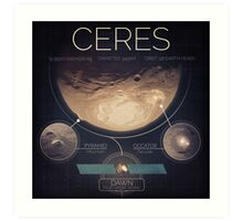 Dwarf Planet Ceres Infographic NASA Art Print