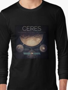 Dwarf Planet Ceres Infographic NASA Long Sleeve T-Shirt