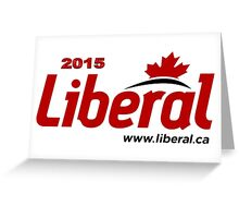 Liberal Party of Canada 2015 Logo Greeting Card