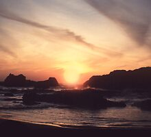 Seal Rock Larger Sun by Syd Bates