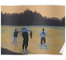 Fishing on the Fraser River Poster