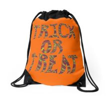 Trick or Treat - Autumn Colors - Henna Tattoo Letters Drawstring Bag