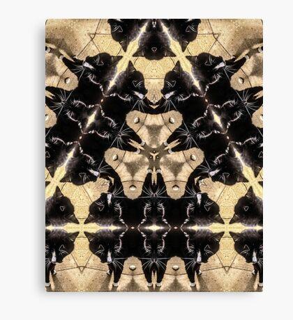 Triangular Monty Canvas Print