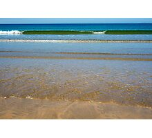 gentle soft waves lashing onto ballybunion sand Photographic Print