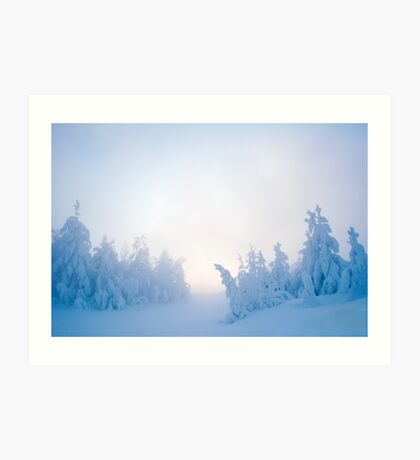 Twilight Snow Art Print