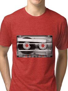 Cassette Tape Mixtape Clear Plastic Tri-blend T-Shirt