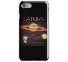 Planet Saturn Infographic NASA iPhone Case/Skin