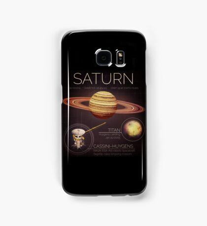Planet Saturn Infographic NASA Samsung Galaxy Case/Skin