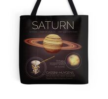 Planet Saturn Infographic NASA Tote Bag