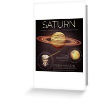 Planet Saturn Infographic NASA Greeting Card