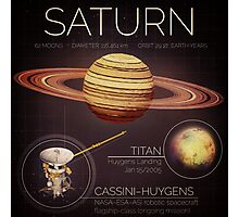 Planet Saturn Infographic NASA Photographic Print