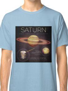 Planet Saturn Infographic NASA Classic T-Shirt