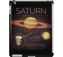 Planet Saturn Infographic NASA iPad Case/Skin