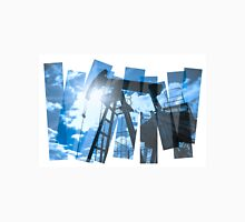 Pump jack abstract composition background. Unisex T-Shirt