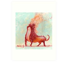 Red Fumer  Art Print