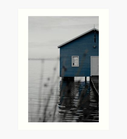 """Crawley Edge"" Boat Shed Art Print"