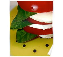 tomato Basil Mozzarella Tower w/ Oil & Balsamic Vinegar 2 Poster