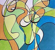 Organic Abstract 1 by Kathryn Nicholas