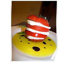 Tomato Basil Mozzarella Tower w/ Oil & Balsamic Vinegar 5 Poster