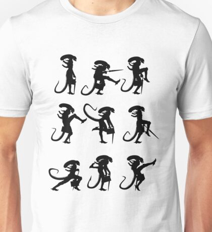 Ministry of Alien Silly Walks (Black Version) Unisex T-Shirt